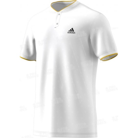 POLO ADIDAS MEN LONDON BLANC / JAUNE AH17