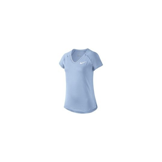 T-SHIRT NIKE PURE TOP FILLETTE BLEU PASTEL HIVER 2017