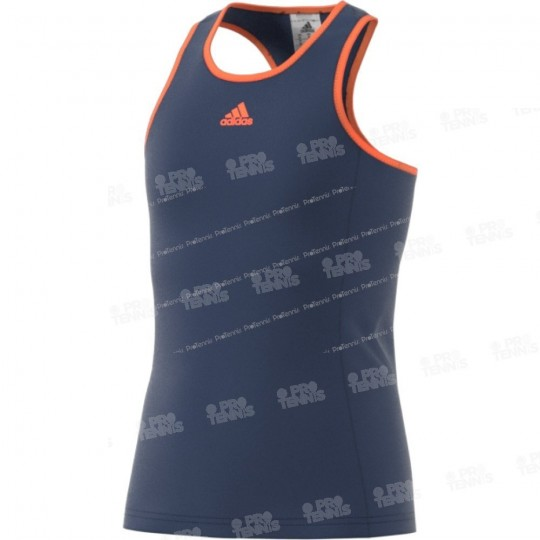 ADIDAS GIRL COURT TANK NAVY / ORANGE PE17