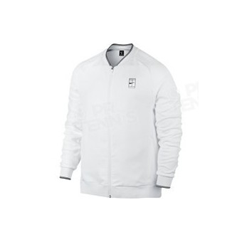 NIKE MEN COURT LOGO JACKET BASELINE BLANC