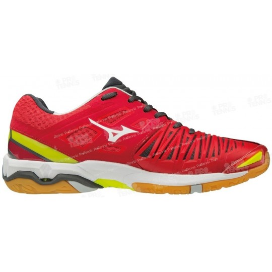 CHAUSSURES INDOOR MIZUNO WAVE STEALTH 4 MEN ROUGE / JAUNE