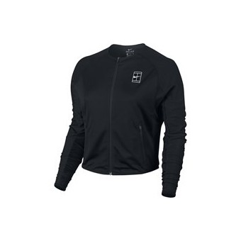 NIKE WOMEN COURT LOGO DRY JACKET NOIR