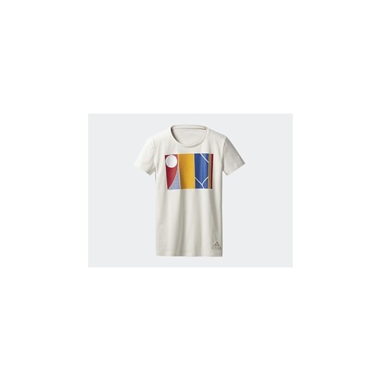 T-SHIRT ADIDAS FEMME PHARRELL WILLIAMS NY GRAPHIC BLANC