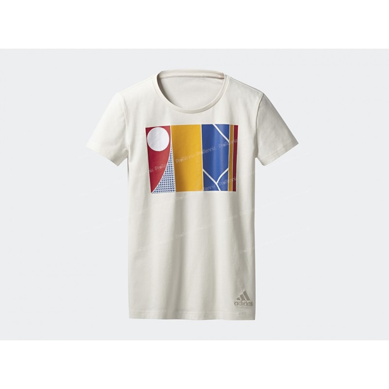 meilleur service cfd00 95681 T-SHIRT ADIDAS FEMME PHARRELL WILLIAMS NY GRAPHIC BLANC