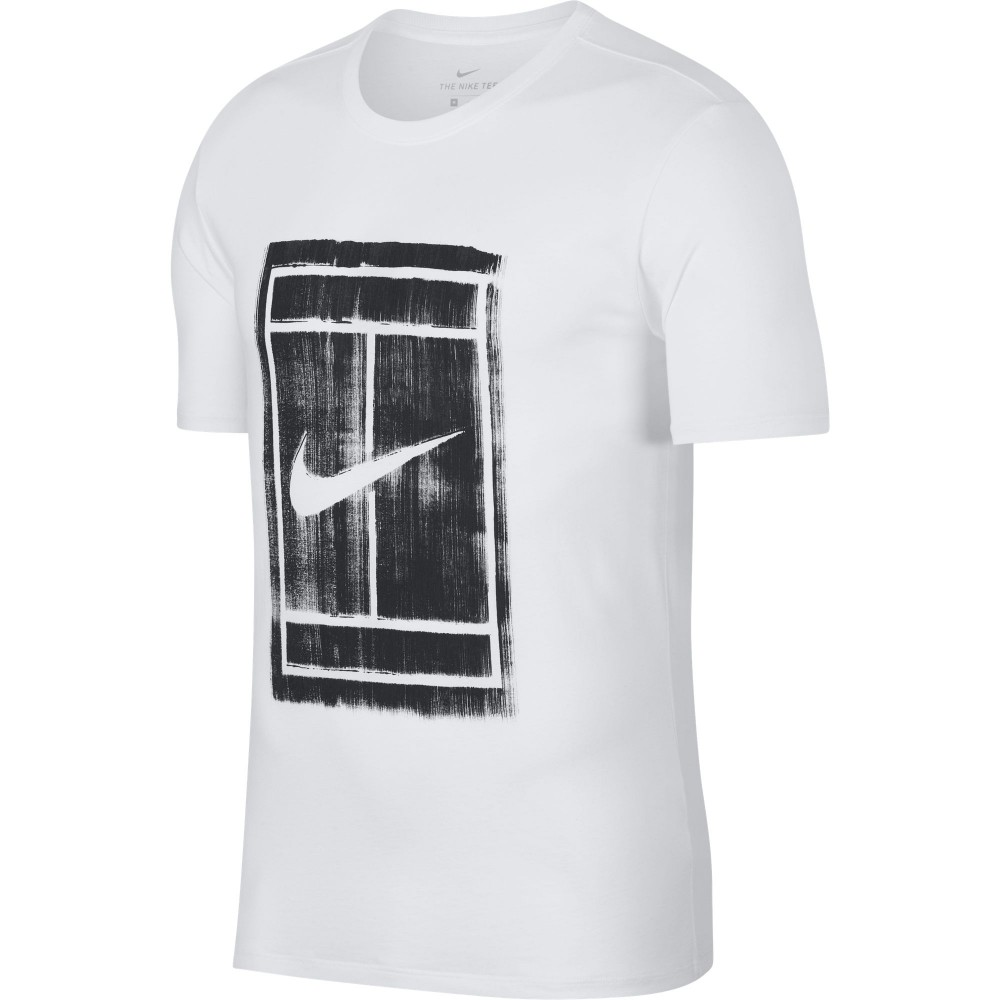 nike court logo tee homme ete 2018 t shirt de tennis homme t shirt de tennis homme. Black Bedroom Furniture Sets. Home Design Ideas