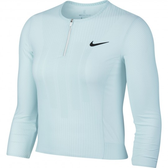 Nike Court Zonal Cooling Slam Top 1/2 Zip 3/4 Femme Ete 2018