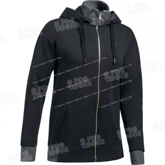 VESTE UNDER ARMOUR FEMME THREADBORNE FLEECE NOIR AH17