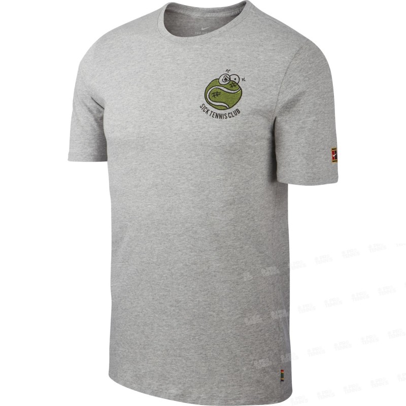 c5d31d02fe43f Nike Court Crow Sick Tee Homme Automne 2018 - T-shirt De Tennis Homme T- shirt De Tennis Homme