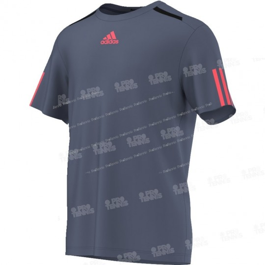 ADIDAS MEN BARRICADE TEE GRIS/ROSE FLUO