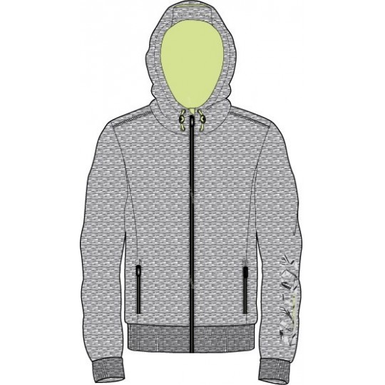 LOTTO BOY DEVIN 3 SWEAT GRIS / LIME AUTOMNE / HIVER 2016