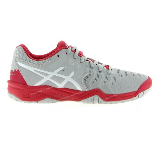 ASICS GEL RESOLUTION 7 JUNIOR GRIS / ROSE AH17