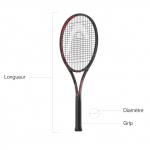 Taille raquette de tennis et manche