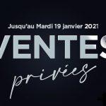 Ventes privées ProTennis du 4 janvier au 19 janvier 2021