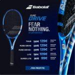 Offre exclusive sur les raquettes Babolat Pure Drive