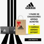 1 paire de chaussures de tennis Adidas achetée = 1 cadeau Adidas offert